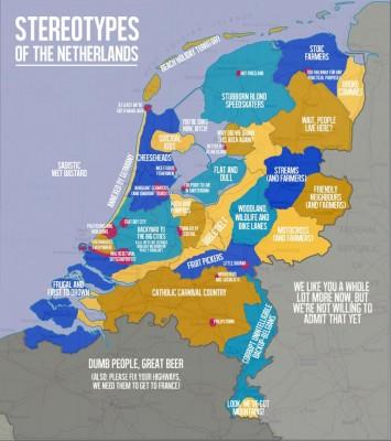 Kaart: stereotypes in Nederland