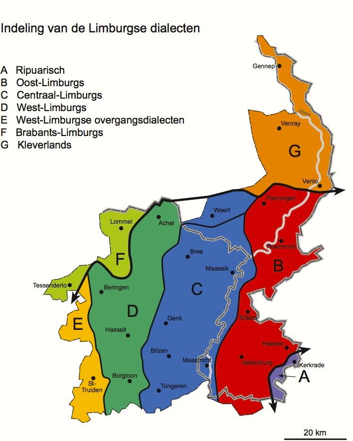 kaart achel belgie