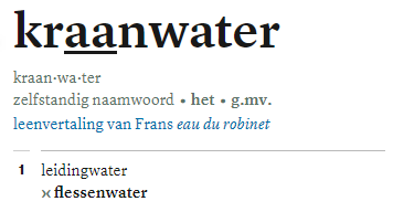 kraanwater van dale