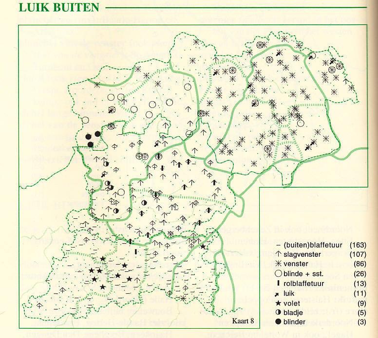 Kaart uit het Woordenboek van de Brabantse Dialecten, Deel III Aflevering 2.1 De Woning