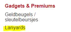 Lanyards Eurogift België