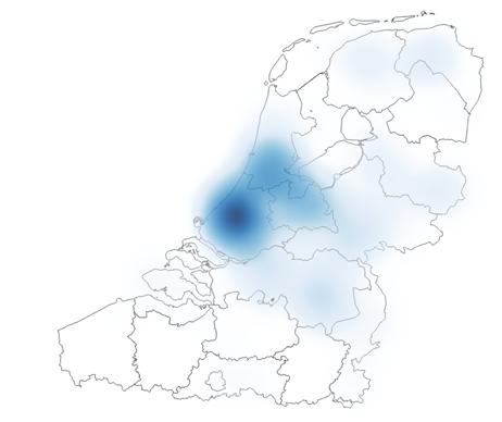 Heatmap spijkerbroek: blauwe vlek in Nederland, niets in Vlaanderen