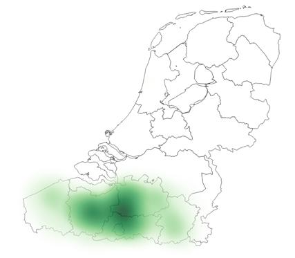 Heatmap jeansbroek: groene vlek uitsluitend in Vlaanderen